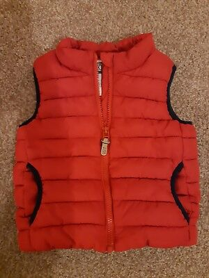 Boys NEXT Red Gilet 18 -24 months Fleece Lined