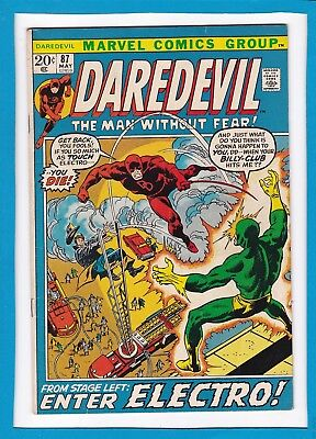 """Daredevil #87_May 1972_F/vf_""""from Stage Left...enter Electro""""_Bronze Age Marvel!"""