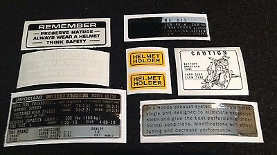 Honda Cb750 Four K3 K4 1973-1974 Warning Kit Decals.