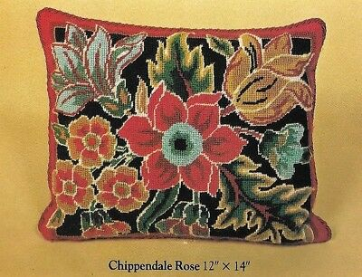 "Vintage Ehrman 1982 ""Chippendale Rose"" design by The Royal School of Needlework"