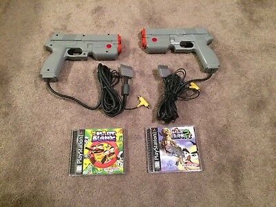 Point Blank 1 and 2 PS1 (Sony PlayStation 1) W/ 2 GUNCON