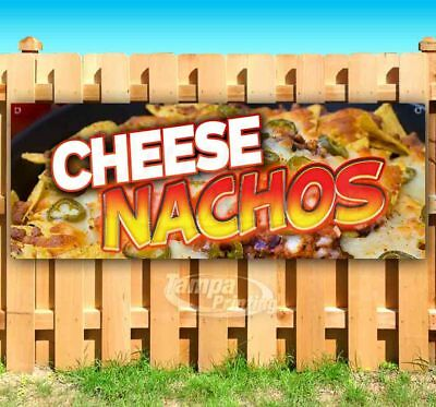 Flag, New Advertising Chili Cheese Nachos 13 oz Heavy Duty Vinyl Banner Sign with Metal Grommets Store Many Sizes Available
