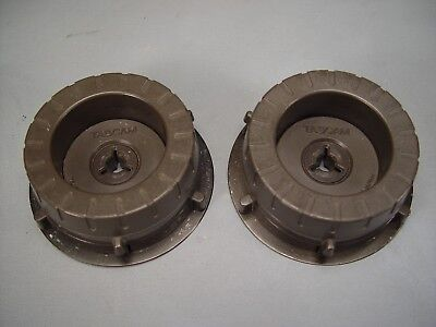 Vintage TEAC Tascam NAB 1/4 inch reel to reel hold down pair **** LooK ****