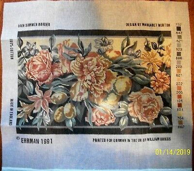 "Ehrman 1991 ""High Summer Border"" by Margaret Murton needlepoint tapestry kit"