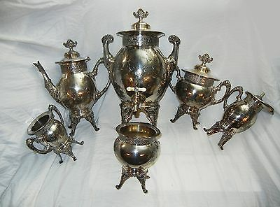 Toronto Silver Plate Company Pitchers and Jugs Set of 6 Ornate Silver Pieces 451