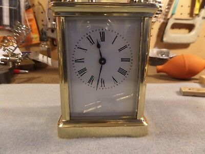 FRENCH CARRIAGE CLOCK  c1900 FULLY SERVICED AND RESTORED WITH ORIGINAL KEY