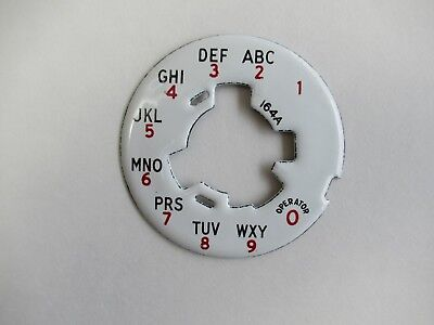 Antique Western Electric telephone porcelain dial plate