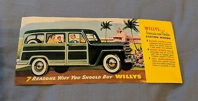 1946 -47? Willys Jeep Station Wagon Brochure pop-up Cross-Section RARE Cut-Away