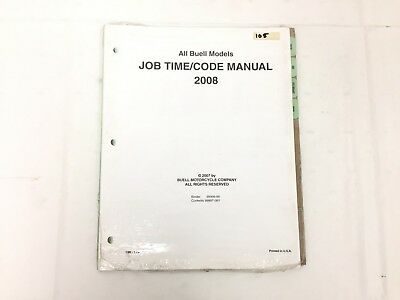 Buell 2008 Job Time Code Manual 99997-08Y (#105)