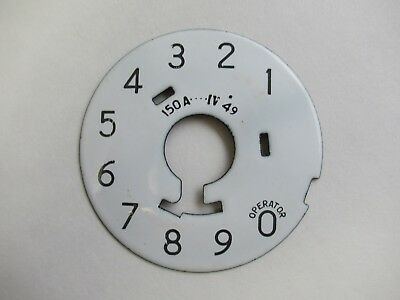 Antique Western Electric telephone porcelain 150A  1949 dial plate