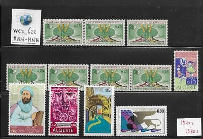 WC1_622 ALGERIE. Lot of 1970s-1980s stamps. Mint/MNH