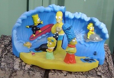 The Simpsons At The Beach 4 Piece Plastic Setting From 1980's As New Great Item
