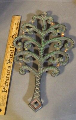 Antique Vintage Cast Iron Wilton Painted Tree Trivet Large