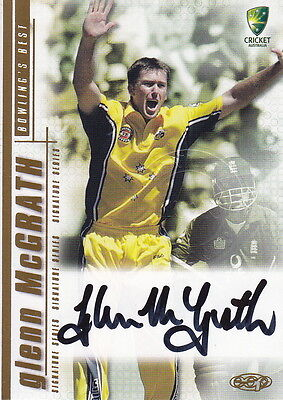 2003/04 Cricket - Glenn McGrath Autograph Card #SS06 (Ikon Collectables)