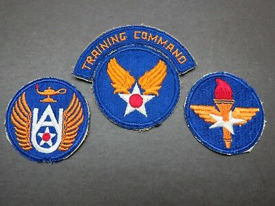 3 Original AAF Patches -Air Training Command / Training Command / Air University