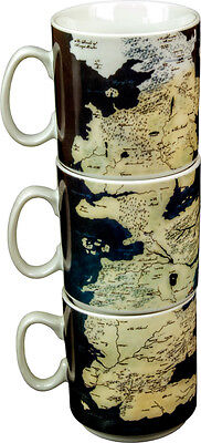 GAMES OF THRONES - Westeros Stacked Mug Set (3) by Ikon Collectables #NEW