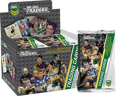 NRL 2015 RUGBY LEAGUE - Traders Trading Cards ~ Sealed Box (36ct) #NEW