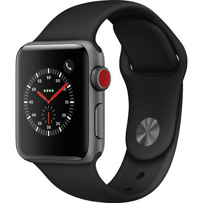 Apple Watch Series 3 38mm Space Gray with Black Sport Band (GPS + Cellular)
