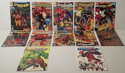 The Marvel Universe : Set Of 12 Spiderman Postcards Made In 1991 By Classico