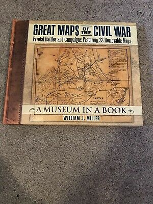 Great Maps of the Civil War Removable Maps Book-NEW
