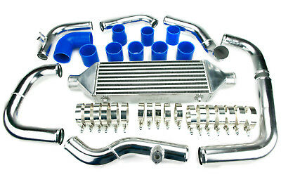 VW Golf Mk4 Bora Jetta 1.8T Gti Turbo Intercooler Kit con Mappa Sensore Fori Blu