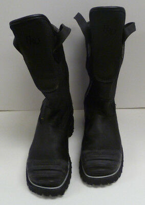 11.5 E Honeywell Pro Warrington Black Leather Firefighter Boots 5006 5006SG L162