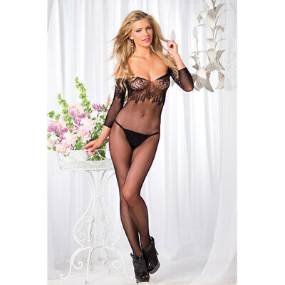Be Wicked - Schulterfreier Netz-Catsuit ouvert QS 46-50