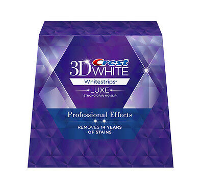 Crest 3D White Luxe Whitestrip Whitening Professional Effect 40 Strips 20 Pouch