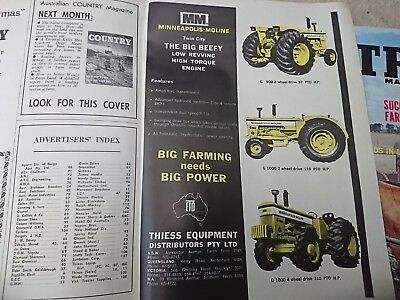 Old 1969 Thiess Minneapolis Moline tractor advert