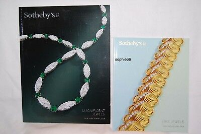 2 Cat., Sotheby's Fine Jewels 4-18 + Sotheby's Magnificent Jewels 4-18  A++++++