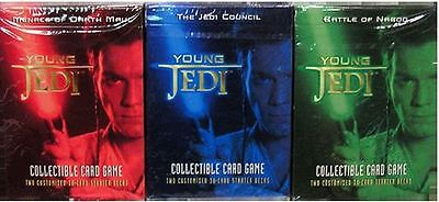 STAR WARS YOUNG JEDI CCG - Card Game Starter Deck Set (3) by Decipher Inc. #NEW