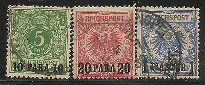 German Offices in the Turkish Empire Scott        8  -  10  Used