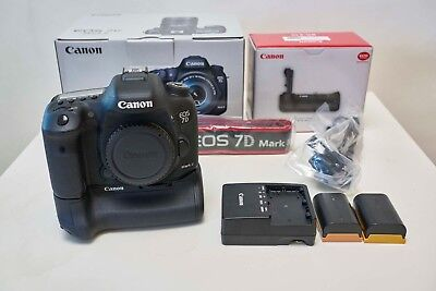 Canon EOS 7D Mark II kit with Batteries, Grip, 128GB CF card and more!