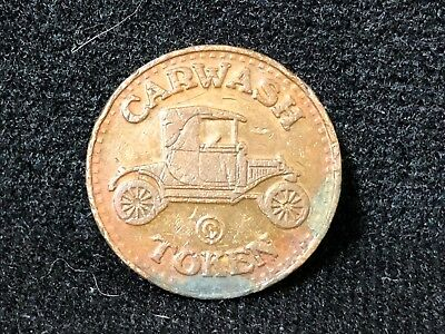 Car Wash Ford Model T Coin Wash Token No Cash Value VB D2