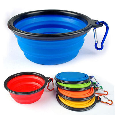 Silicon Pet Travel Bowl for Dog Cat Feeding Water Dish Feeder Portable Foldable