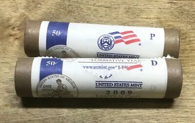 2009 P D Lincoln Cent Two Roll Set (Dd0114)