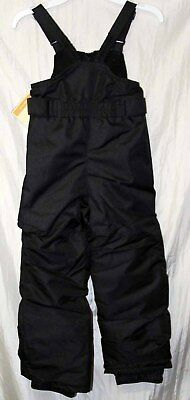 Toddlers Cherokee insulated snow or ski bib overalls snowsuit 4T black  - NWT