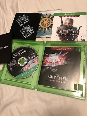The Witcher 3: Wild Hunt - (Xbox One, 2016) - Complete, Map, Insert Adult Owned