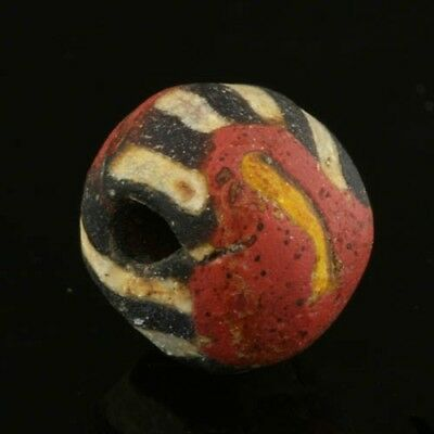 Ancient glass beads: Byzantine / Islamic mosaic glass bead, 7-9 century