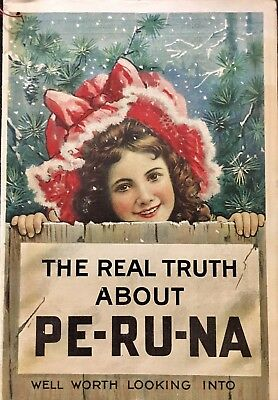 Pe-ru-na Advertising Booklet Lithograph 1906 Illustrated Antique Pharmacy Drug