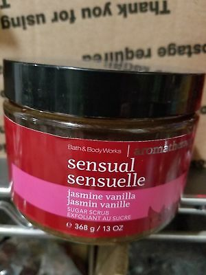 Bath and & Body Works Aromatherapy JASMINE VANILLA Sugar Body Scrub 13 oz. NEW