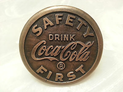 Sidewalk Marker Coca Cola Brass Finish Safety First National Marker Co Coke