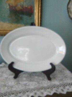 "Old/Vintage English Ironstone White Oval 13"" Platter Maddock Stoneware"