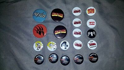 Vintage 80's Comic Book Pin Back Buttons Various Lot Of 20 Marvel & Independent