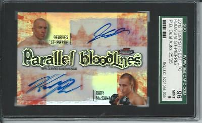 2012 UFC Parallel Bloodlines GEORGES ST-PIERRE RORY MACDONALD #25/25 AUTO CANADA