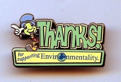 Disney Pinocchio Jiminy Cricket Thanks for Supporting Environmentality Cast Pin