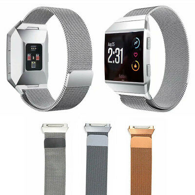 For Fitbit ionic Watch Band Stainless Steel Milanese Loop Wristband Magnet Strap