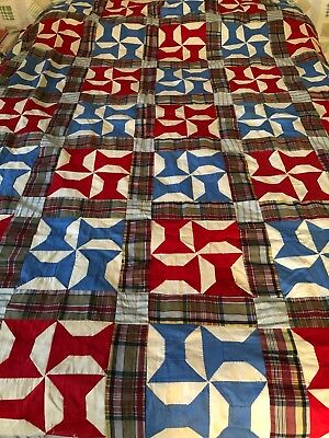 Vintage Hand Stitched Spools Quilt Top