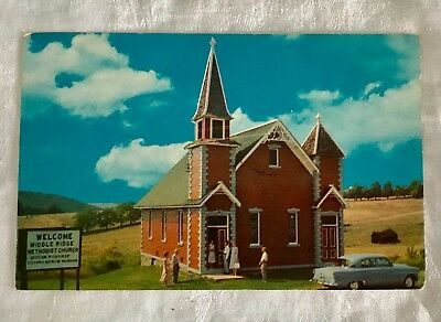 Vintage Unused Postcard Middle Ridge Methodist Church - Wellsboro, Penn 1950s