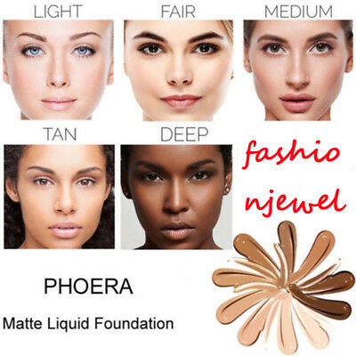 PHOERA Foundation Makeup Full Coverage Fast Base Brighten long-lasting Shade FWY